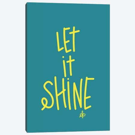 Let It Shine 3-Piece Canvas #ERB89} by Erin Barrett Canvas Art Print