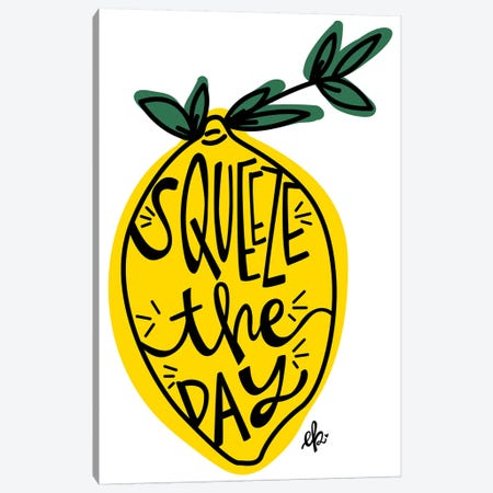 Squeeze the Day Canvas Print #ERB97} by Erin Barrett Canvas Print