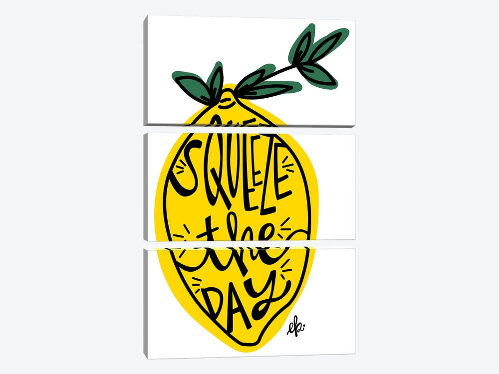 Squeeze the Day by Erin Barrett 3-piece Canvas Art Print