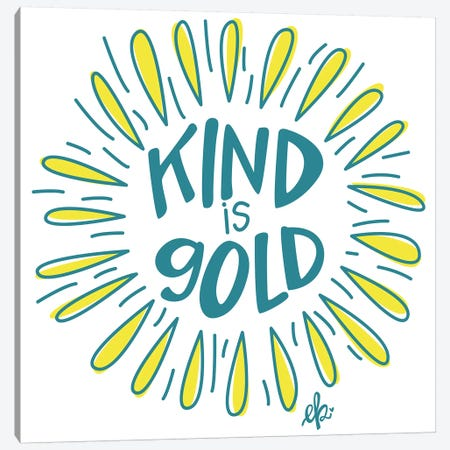 Sunshine Kind is Gold Canvas Print #ERB99} by Erin Barrett Canvas Art