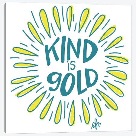 Sunshine Kind is Gold Canvas Print #ERB99} by Erin Barrett Canvas Art