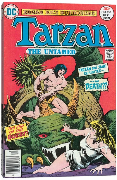 DC Tarzan No 256 Canvas Art Print
