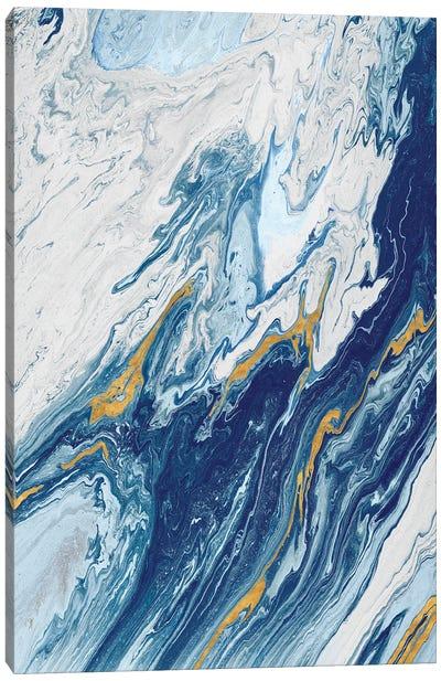 Beach Blue Waves Canvas Art Print