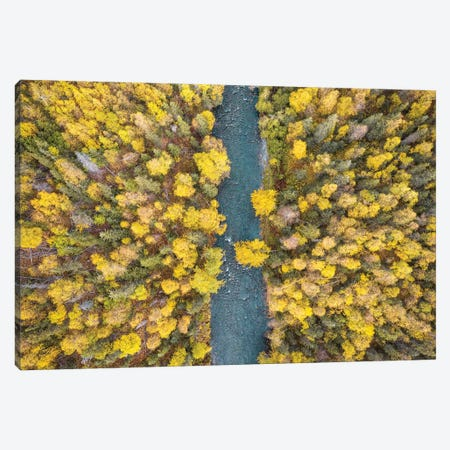 Alaska Autumn From Above Canvas Print #ERF1} by Eric Fisher Art Print