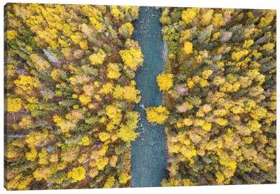 Alaska Autumn From Above Canvas Art Print