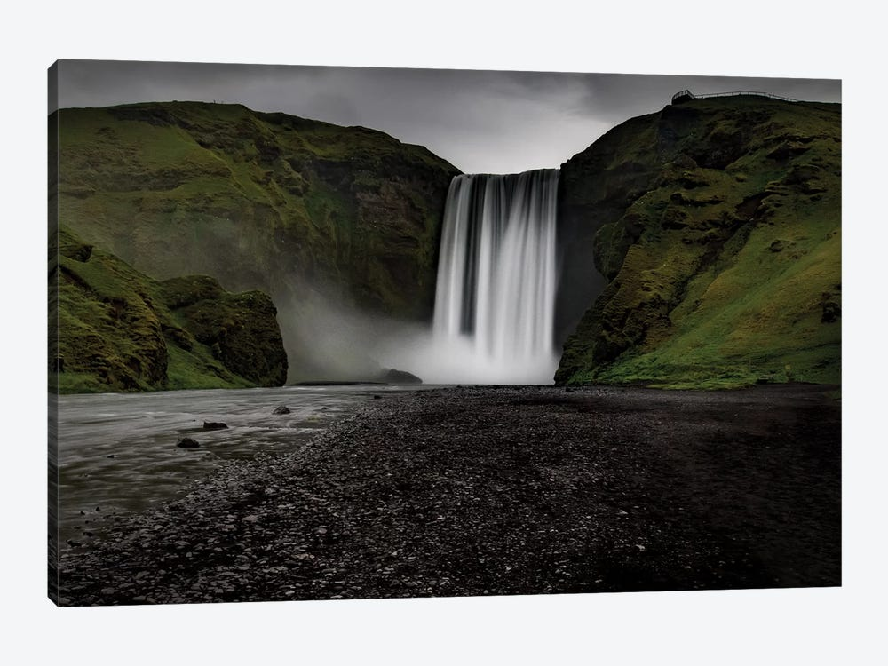 Iceland Waterfall Skogafoss by Eric Fisher 1-piece Canvas Print