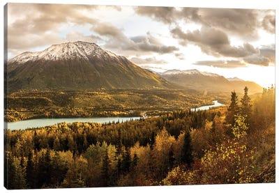Alaska Mountains In Fall Canvas Art Print