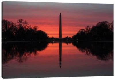 Washington DC Monuments Sunrise Canvas Art Print
