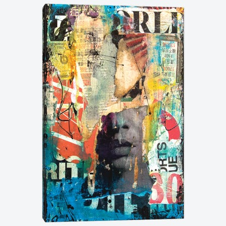 Collage Head Canvas Print #ERI125} by Erin Ashley Canvas Wall Art