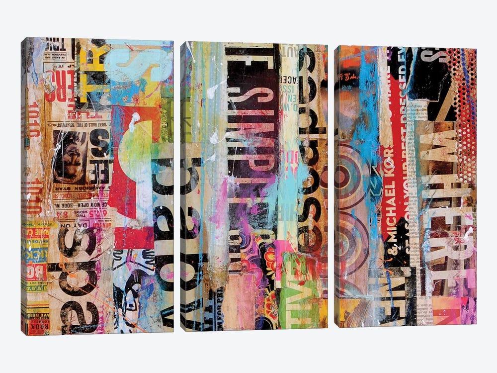 Metro Mix 21 II by Erin Ashley 3-piece Canvas Art Print