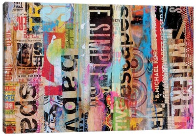 Metro Mix 21 II Canvas Art Print