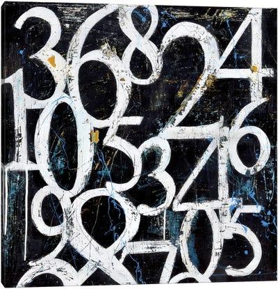 Numbers Canvas Art Print