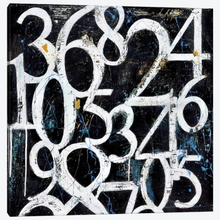 Numbers 3-Piece Canvas #ERI135} by Erin Ashley Canvas Art Print