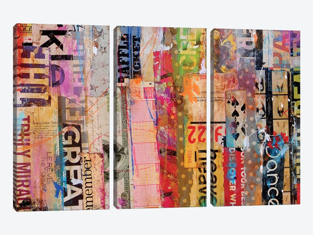 Metro Mix 21 III by Erin Ashley 3-piece Canvas Artwork