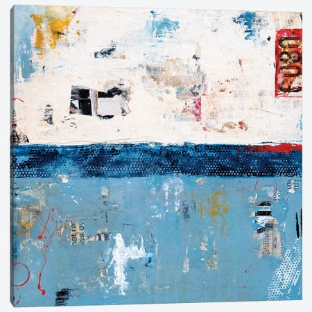 Blue Ribbon Canvas Print #ERI155} by Erin Ashley Art Print