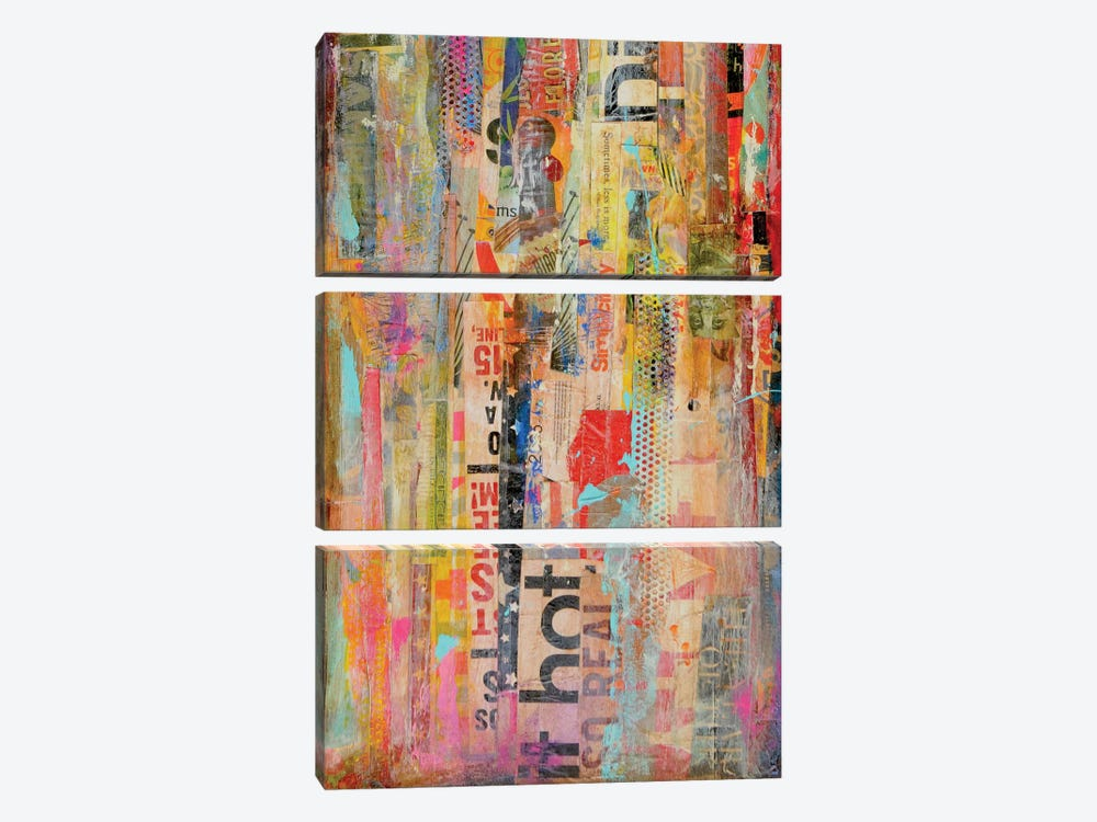 Metro Mix I by Erin Ashley 3-piece Canvas Wall Art