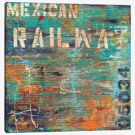 Mexican Railway Canvas Print #ERI163} by Erin Ashley Art Print