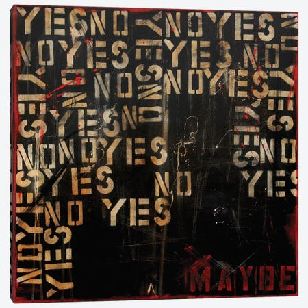 Yes, No, Maybe? Canvas Print #ERI17} by Erin Ashley Canvas Art