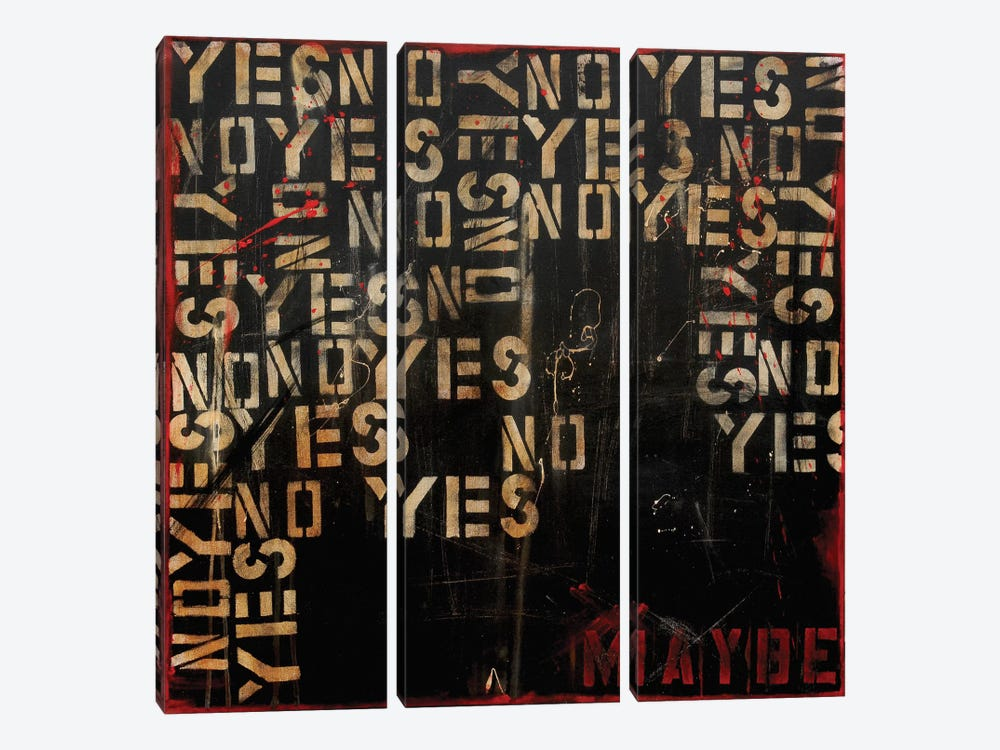 Yes, No, Maybe? by Erin Ashley 3-piece Canvas Artwork