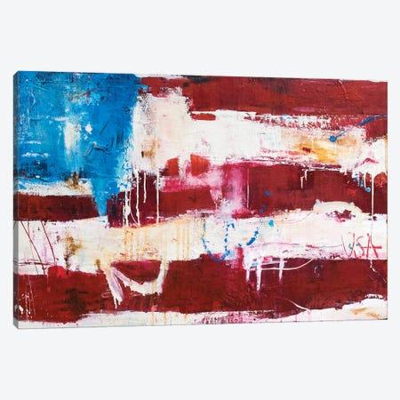 Abstract Flag Canvas Print #ERI181} by Erin Ashley Art Print