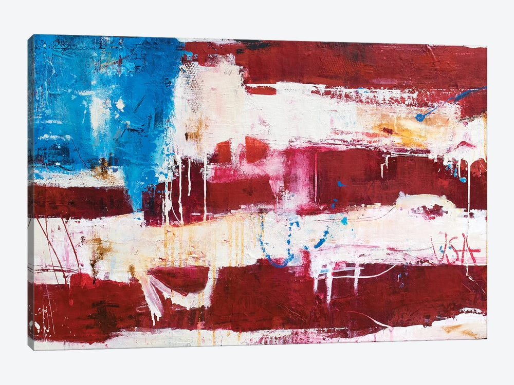 Abstract Flag by Erin Ashley 1-piece Canvas Art Print