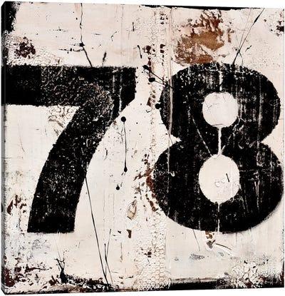 78 Canvas Art Print