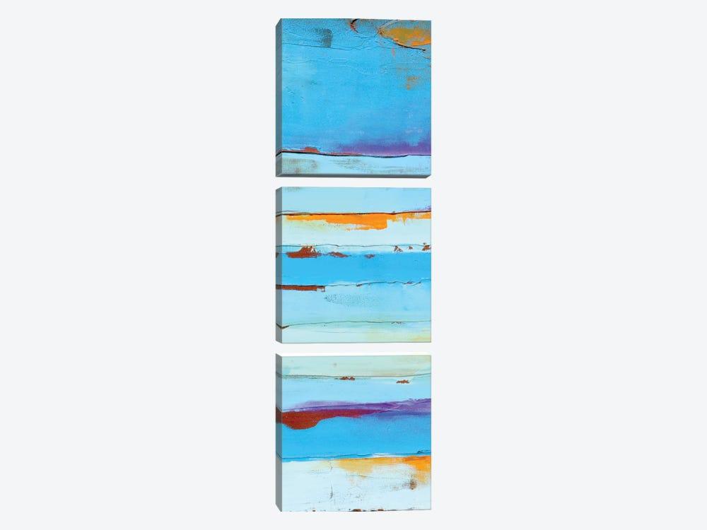 Blue Jam II by Erin Ashley 3-piece Canvas Artwork