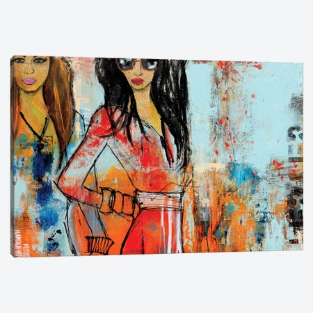 City Girls Canvas Print #ERI33} by Erin Ashley Art Print