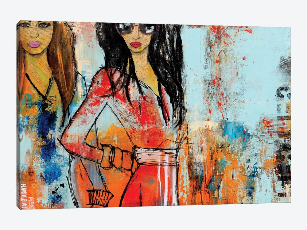 City Girls by Erin Ashley 1-piece Canvas Wall Art