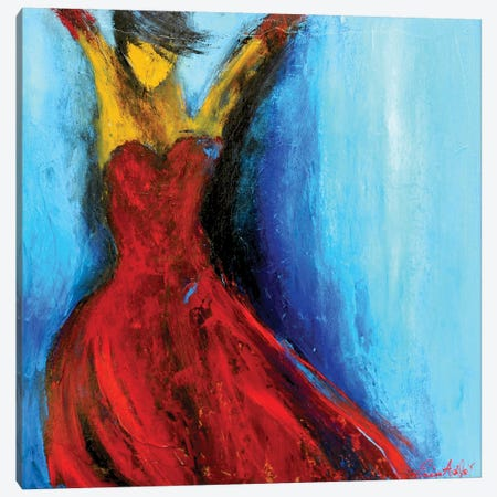 Hot Tango Canvas Print #ERI37} by Erin Ashley Canvas Artwork