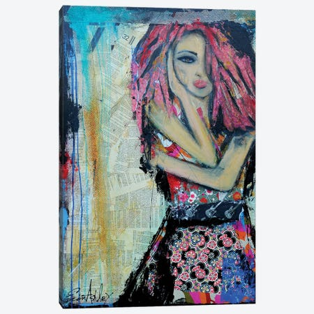 Punk Rock Chic Canvas Print #ERI49} by Erin Ashley Canvas Artwork