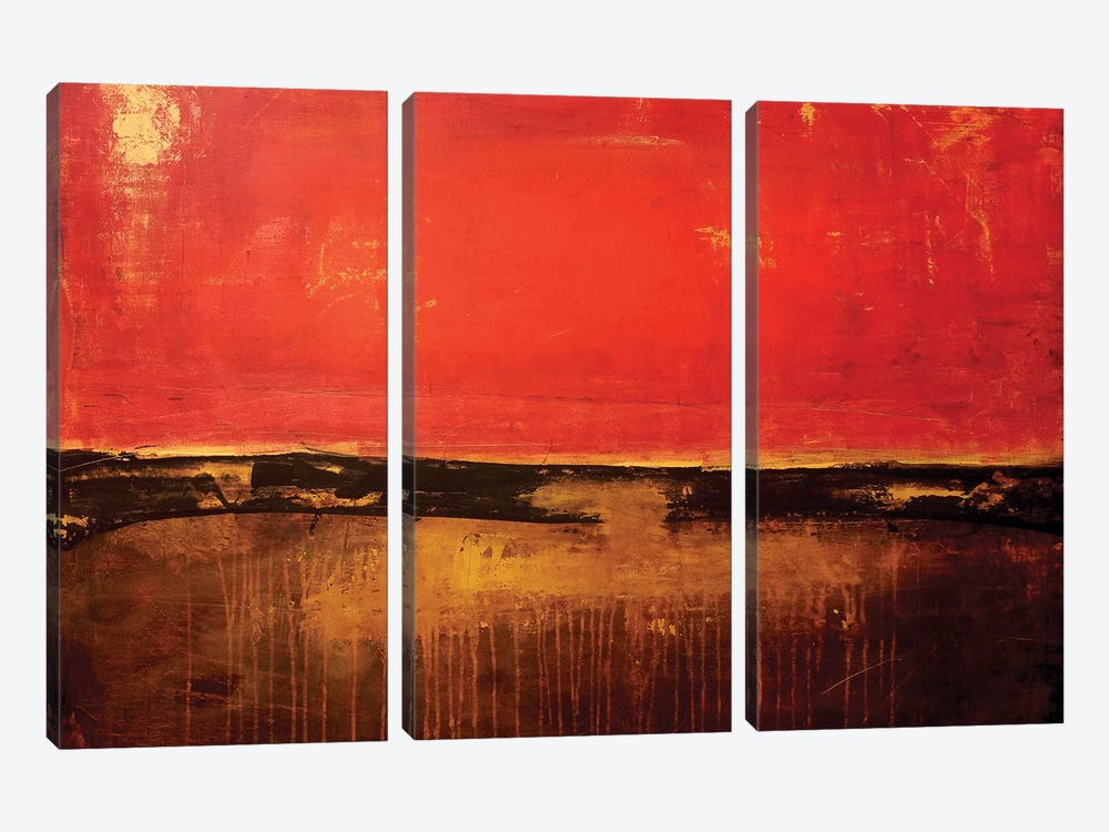 Shanghai Red by Erin Ashley 3-piece Canvas Art Print