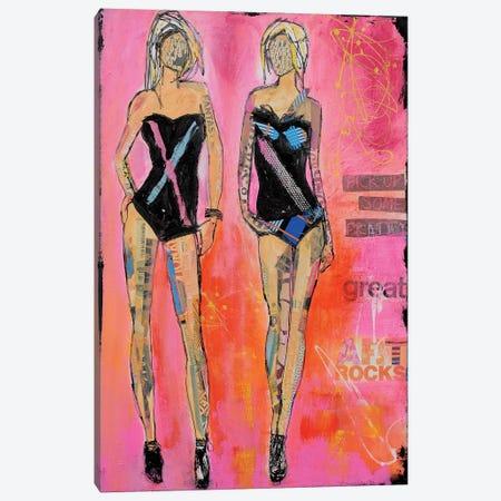 West End Girls Canvas Print #ERI57} by Erin Ashley Canvas Art