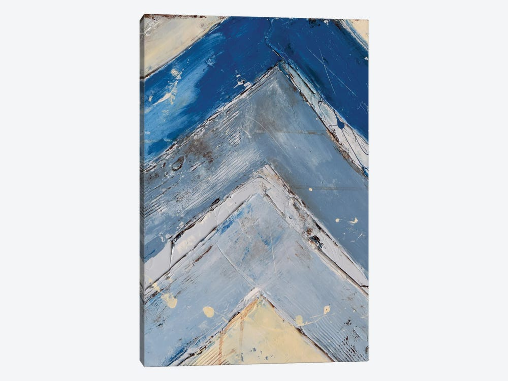 Blue Zag I by Erin Ashley 1-piece Art Print