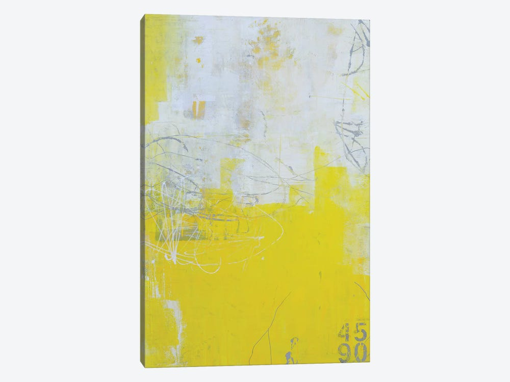 Yellow Stone by Erin Ashley 1-piece Canvas Wall Art