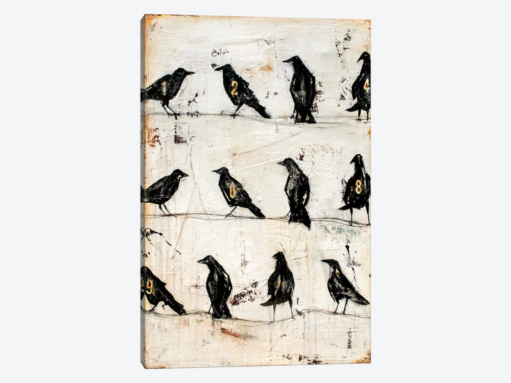 Crows On The Line by Erin Ashley 1-piece Art Print