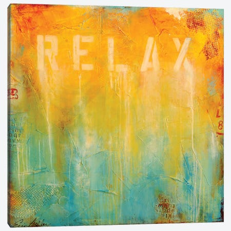 Just Relax Canvas Print #ERI67} by Erin Ashley Canvas Print