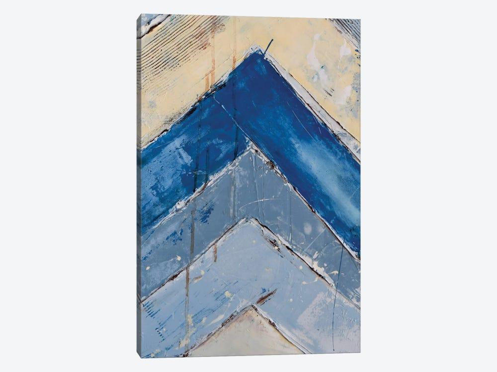 Blue Zag II by Erin Ashley 1-piece Canvas Wall Art