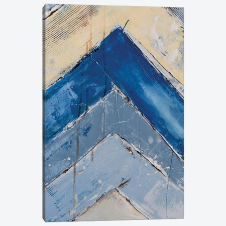 Blue Zag II Canvas Print #ERI6} by Erin Ashley Canvas Art Print
