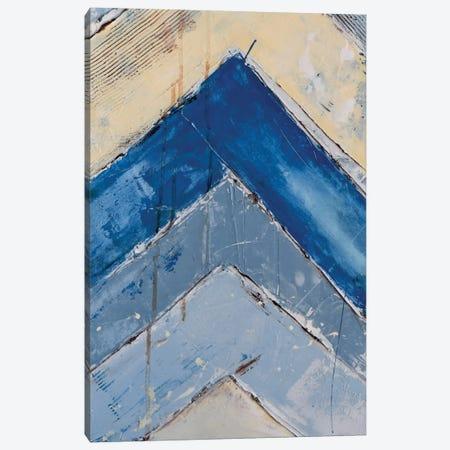 Blue Zag II Canvas Print #ERI6} by Erin Ashley Canvas Art Print