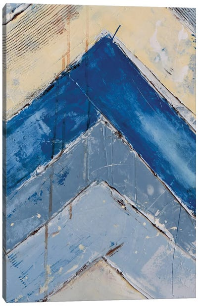 Blue Zag II Canvas Art Print