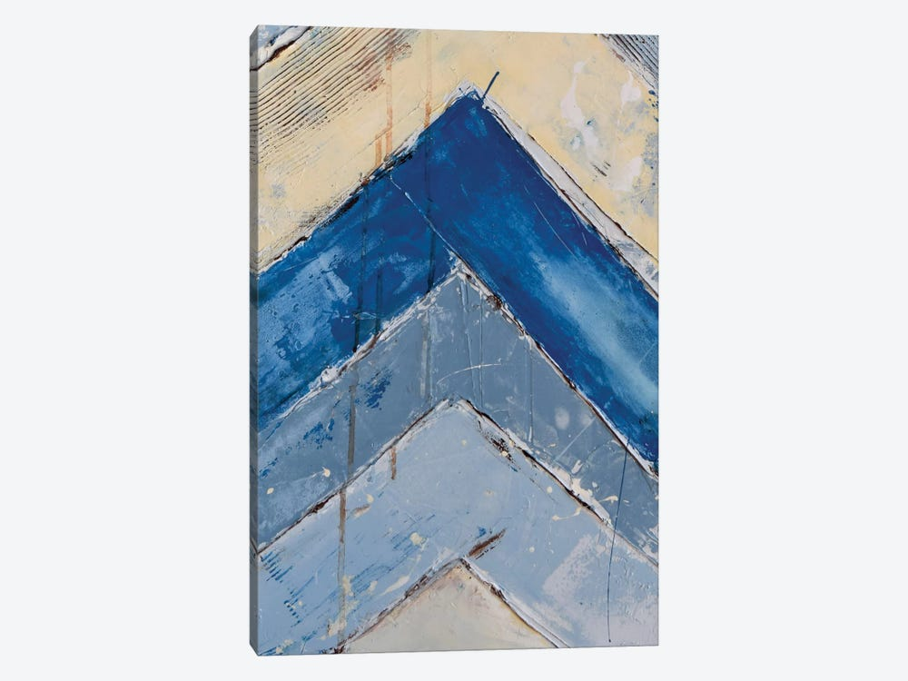 Blue Zag II by Erin Ashley 1-piece Canvas Wall Art