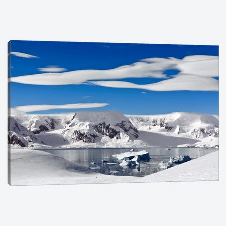 Snow-Covered Mountains Along Coast, Antarctica Canvas Print #ERK1} by Erik Joosten Canvas Art