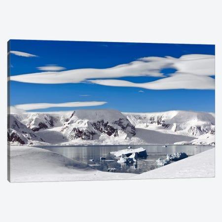 Snow-Covered Mountains Along Coast, Antarctica Canvas Print #ERK1} by Erik Joosten Canvas Art