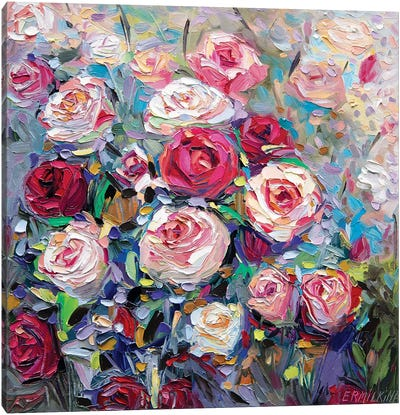 Roses Bloom Canvas Art Print