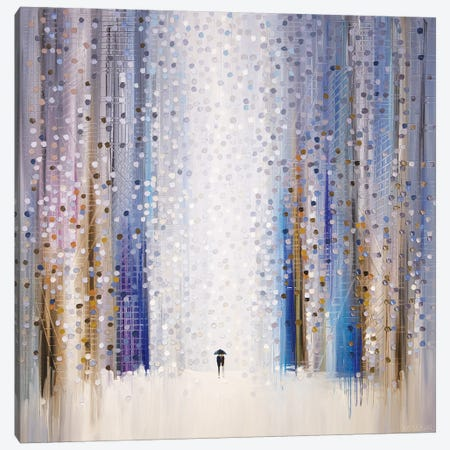 Falling In Love Under Umbrella 3-Piece Canvas #ERM103} by Ekaterina Ermilkina Canvas Wall Art