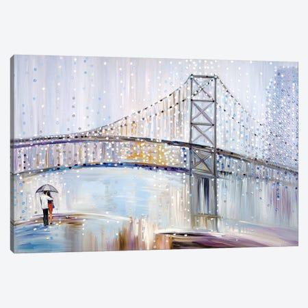 Romantic Rainy Date Canvas Print #ERM105} by Ekaterina Ermilkina Canvas Print