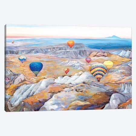 Hot Air Balloons Festival Canvas Print #ERM108} by Ekaterina Ermilkina Canvas Art