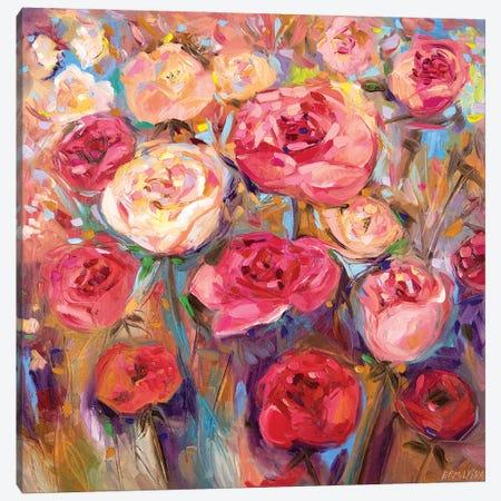 Roses Canvas Print #ERM112} by Ekaterina Ermilkina Canvas Art Print