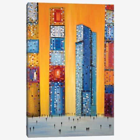 Zurich Skyline Canvas Print #ERM117} by Ekaterina Ermilkina Canvas Wall Art